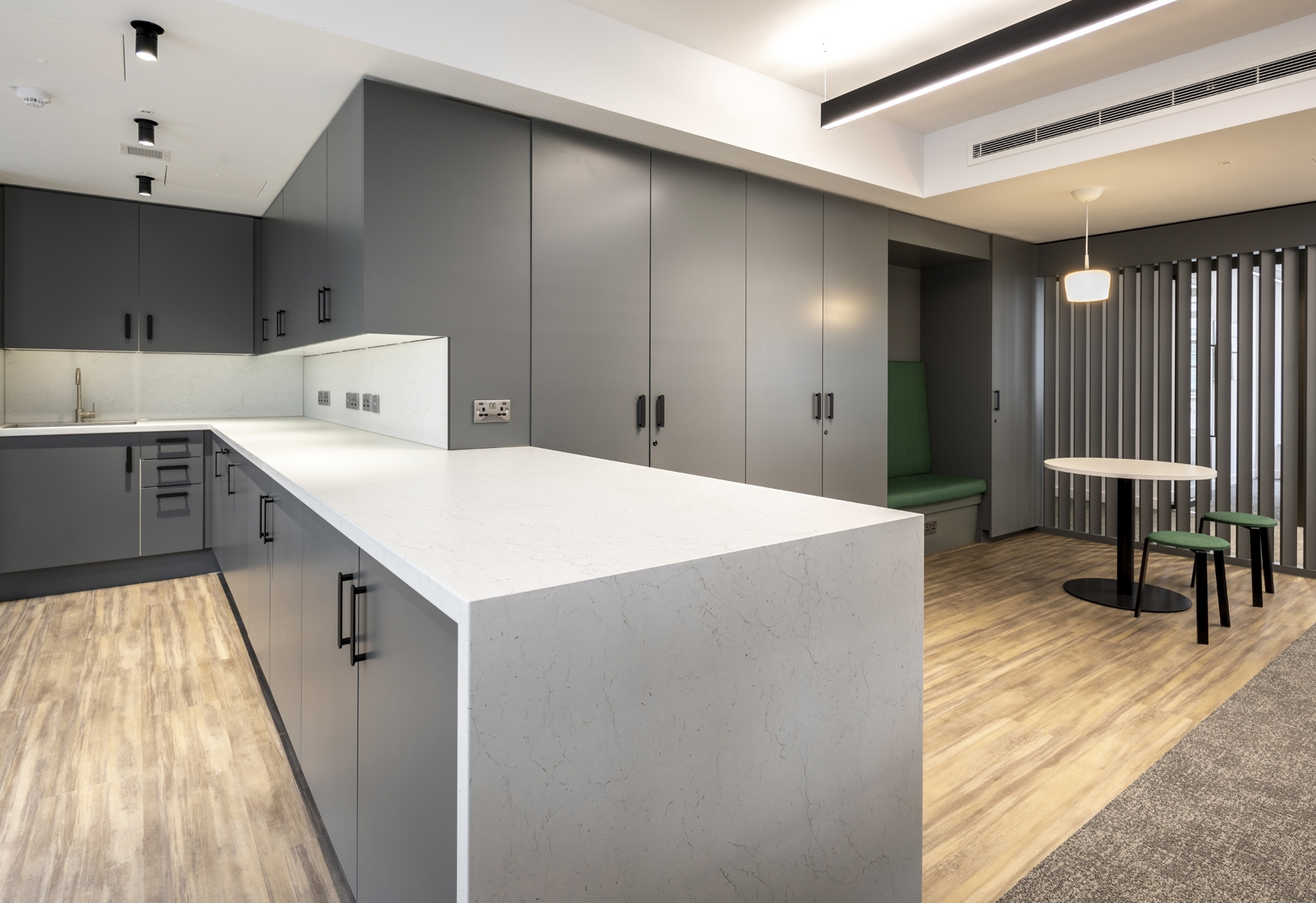 Your own kitchen and breakout area.